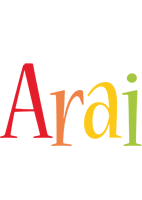 Arai birthday logo