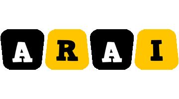 Arai boots logo