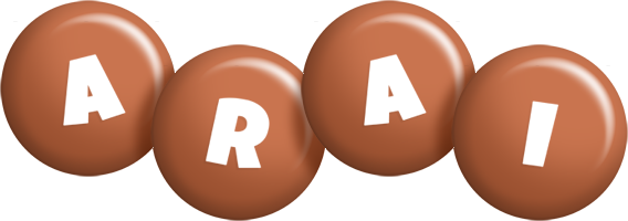 Arai candy-brown logo