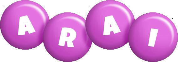 Arai candy-purple logo