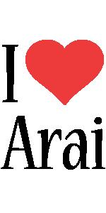 Arai i-love logo
