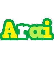 Arai soccer logo