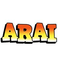 Arai sunset logo
