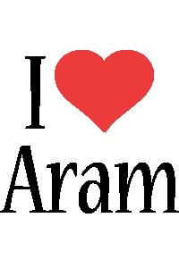 Aram i-love logo