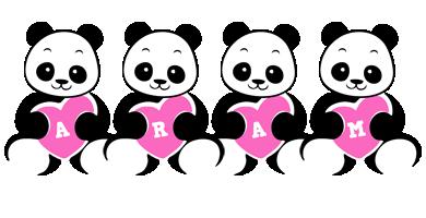 Aram love-panda logo