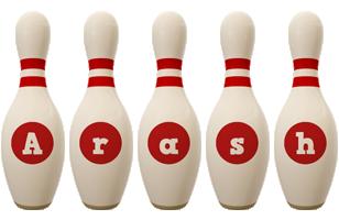 Arash bowling-pin logo