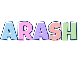 Arash pastel logo
