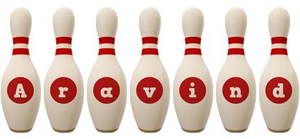 Aravind bowling-pin logo