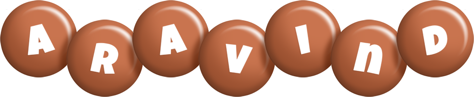 Aravind candy-brown logo