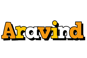 Aravind cartoon logo