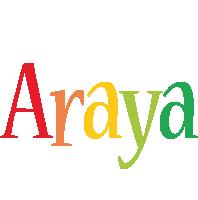 Araya birthday logo