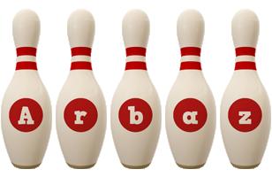 Arbaz bowling-pin logo