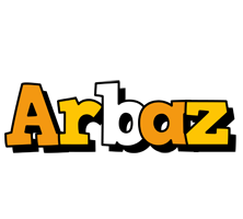 Arbaz cartoon logo