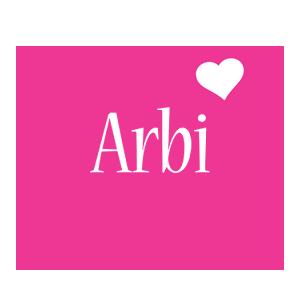 Arbi love-heart logo