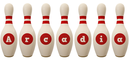 Arcadia bowling-pin logo