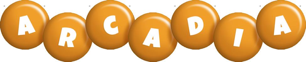 Arcadia candy-orange logo