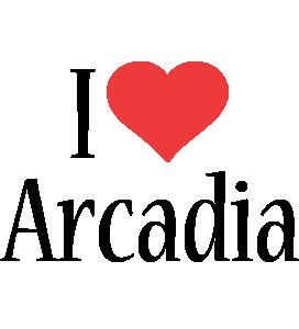 Arcadia i-love logo