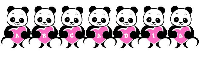 Arcadia love-panda logo