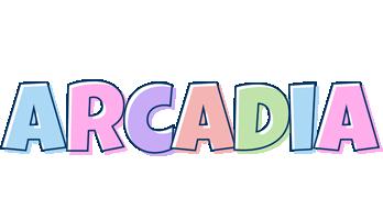 Arcadia pastel logo
