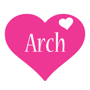 Arch love-heart logo