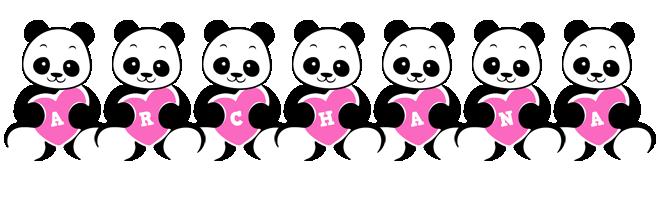 Archana love-panda logo