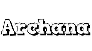 Archana snowing logo