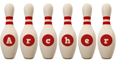 Archer bowling-pin logo