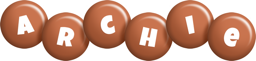 Archie candy-brown logo