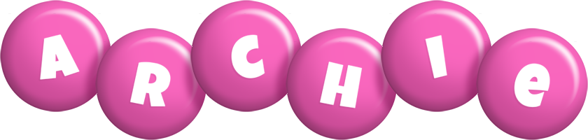 Archie candy-pink logo