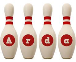 Arda bowling-pin logo