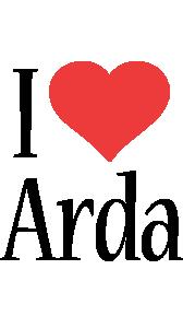 Arda i-love logo