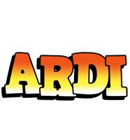 Ardi sunset logo