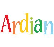 Ardian birthday logo