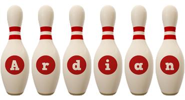 Ardian bowling-pin logo