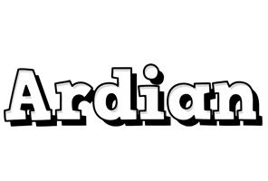 Ardian snowing logo