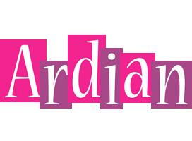 Ardian whine logo