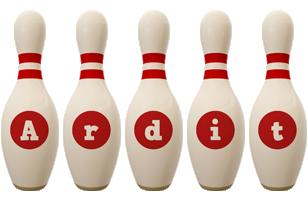 Ardit bowling-pin logo