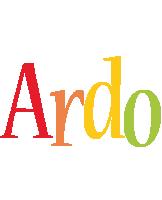 Ardo birthday logo