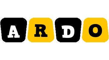 Ardo boots logo