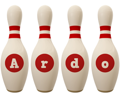 Ardo bowling-pin logo