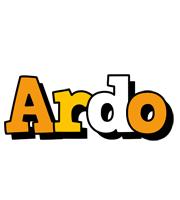 Ardo cartoon logo