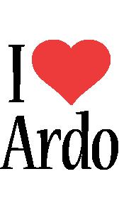 Ardo i-love logo