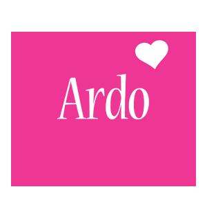 Ardo love-heart logo