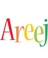Areej birthday logo