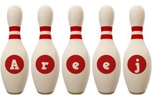 Areej bowling-pin logo