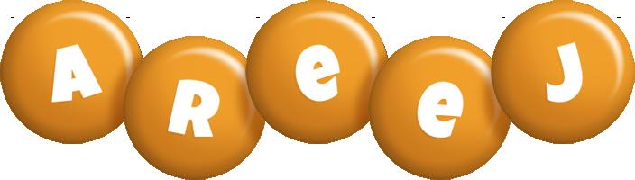 Areej candy-orange logo