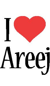 Areej i-love logo