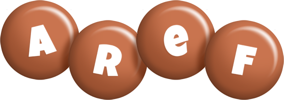 Aref candy-brown logo