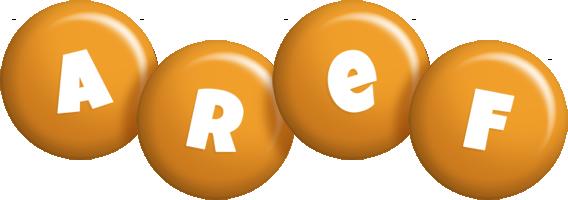 Aref candy-orange logo