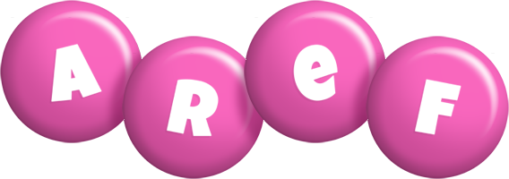 Aref candy-pink logo